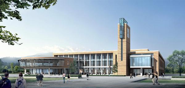 学院新校建设规划效果图 烟台汽车工程职业学院
